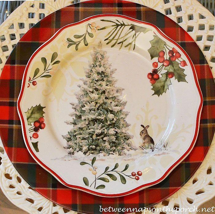 Tartan Christmas table setting