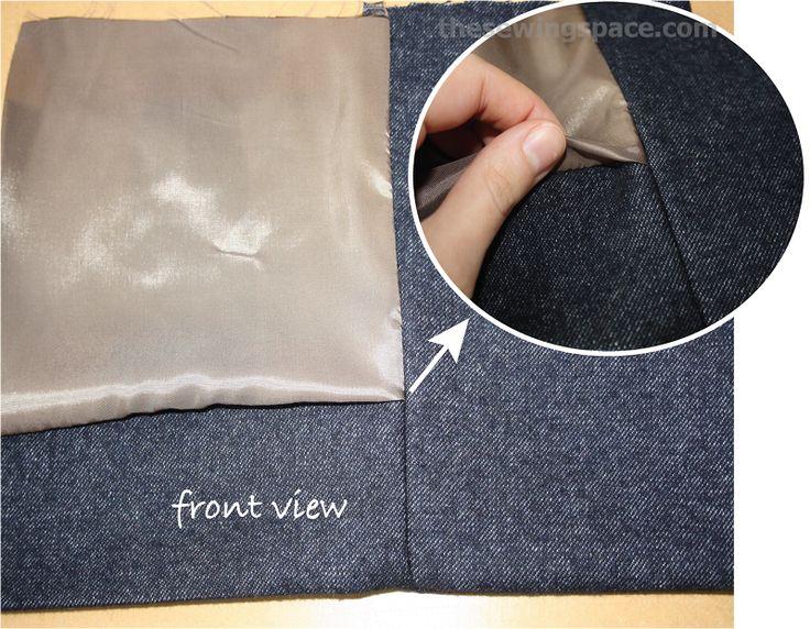Jacket bagging. That tricky corner :: TUTORIAL acabar el forro en la esquina de la tapeta