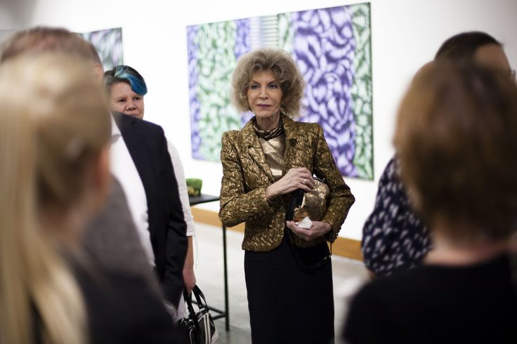 Artist Totte Mannes at her exhibition opening.