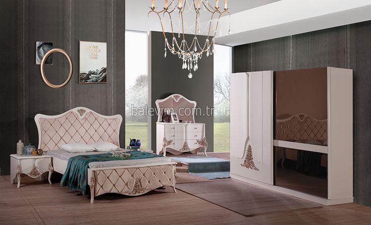 TUĞRA YATAK ODASI TAKIMI http://www.balevim.com.tr/yatak-odalari Yatak odaları, avangarde yatak odaları, indirimli yatak odaları, ahşap yatak odaları, country yatak odaları,  modern yatak odaları, klasik yatak odaları, lake yatak odaları, beyaz yatak odası takımları, renkli yatak odası takımları, komodin, şifon yer, yatak başlıkları, bazalar, ortopedik yataklar, gardroplar, raylı dolaplar