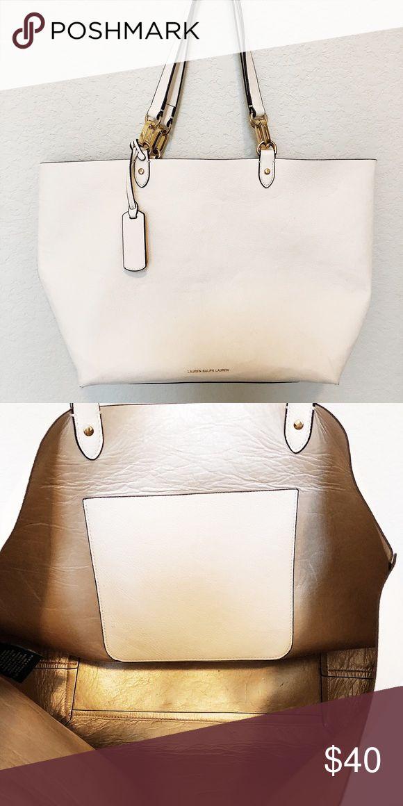 Ralph Lauren Tote Bag Perfect condition. Gold inside with pocket. Lauren Ralph Lauren Bags