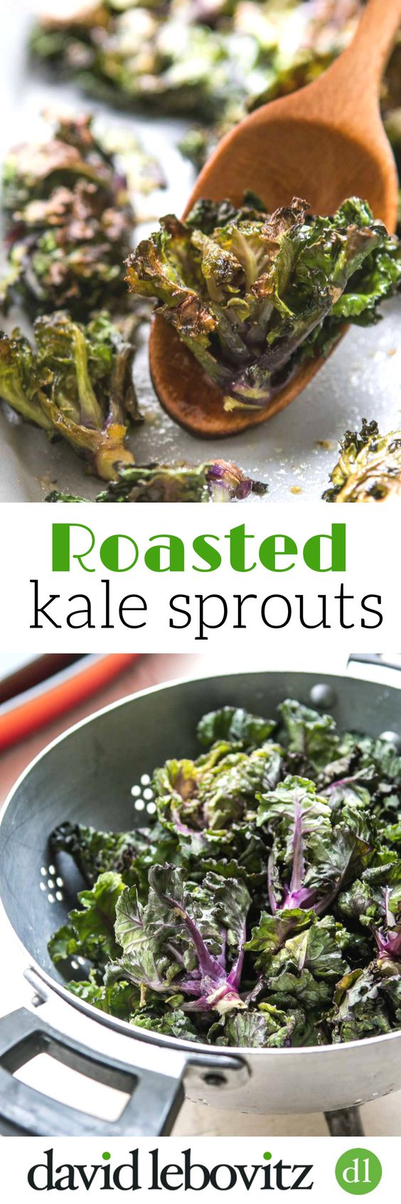 Delicious kale sprouts, roasted in the oven, is an easy recipe that makes these fresh little sprouts take on a wonderful flavor with a crisp nutty texture.