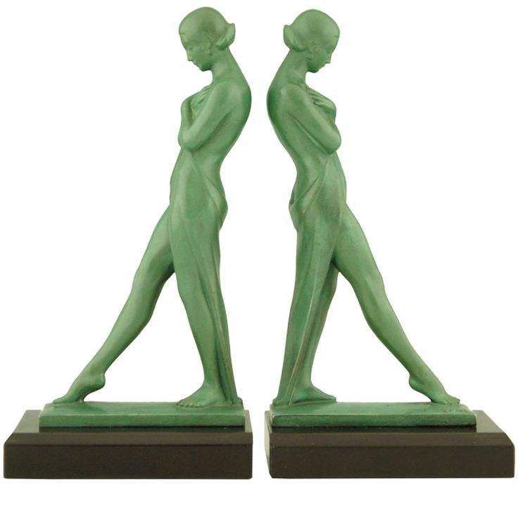 Art Deco Metal Bookends by Fayral