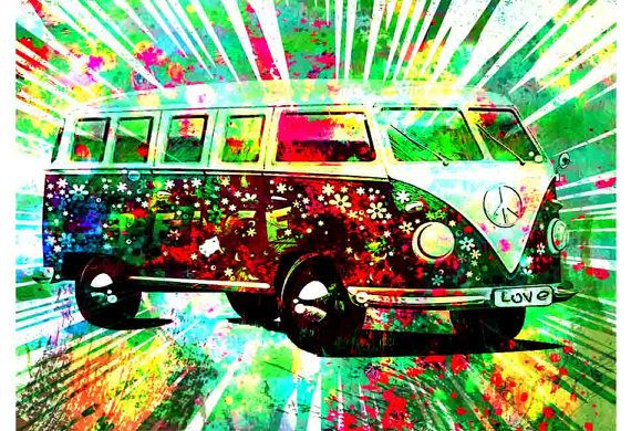 Binden Sie Frieden Kunst Hippie Kunst Frieden von PoolPartyPopArt