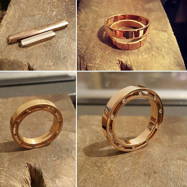 En ny spännande ring designad och tillverkad på briljant.  Roséguldsringar som…