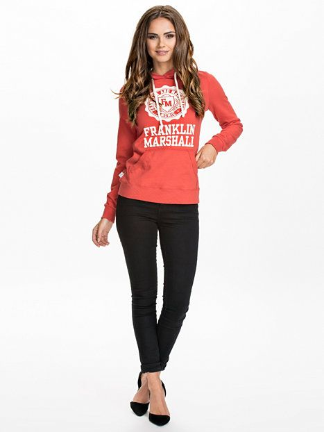 Woman Fleece - Franklin & Marshall - Red - Jumpers & Cardigans - Clothing -  Women