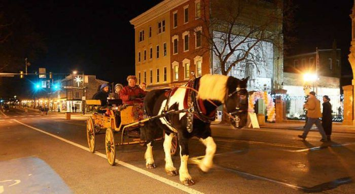 Celebrate the holiday season in Carlisle PA, which transforms into a winter wonderland every winter with visits from Santa, sleigh rides, a Christmas parade and tree lighting, a winter gala, and storytelling with Mrs. Claus.