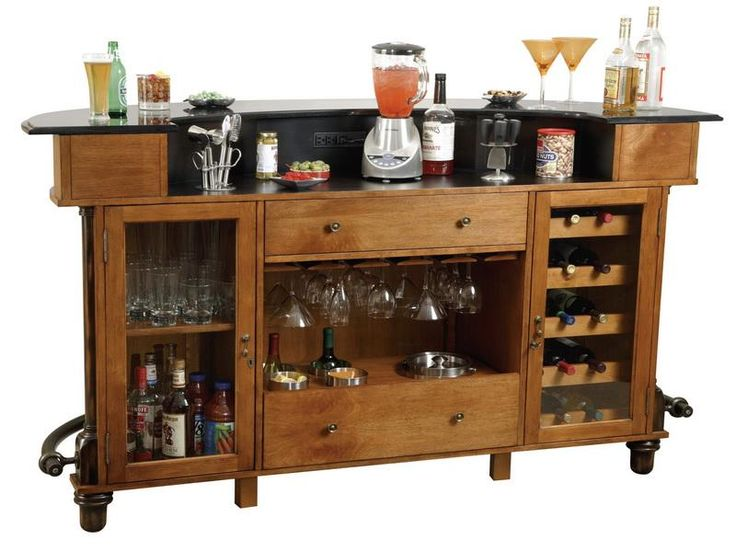 Rustic Home Bar Furniture Set Design