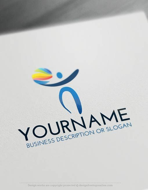 Design Free Logo: Human Logo Template. Make your own logos with the best free logo creator