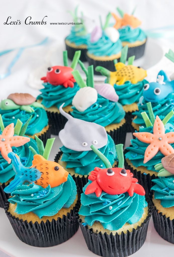Under the sea cupcakes www.lexiscrumbs.com