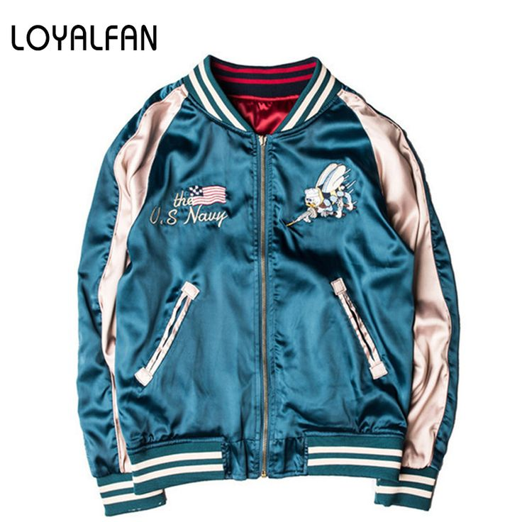Cheap streetwear jacket, Buy Quality mens streetwear jackets directly from China baseball jacket Suppliers: 2016 Autumn Double side wear Luxury Honeybee/Red-crowned Crane  Embroidery Baseball Jacket Women Men Streetwear Jacket Outwear