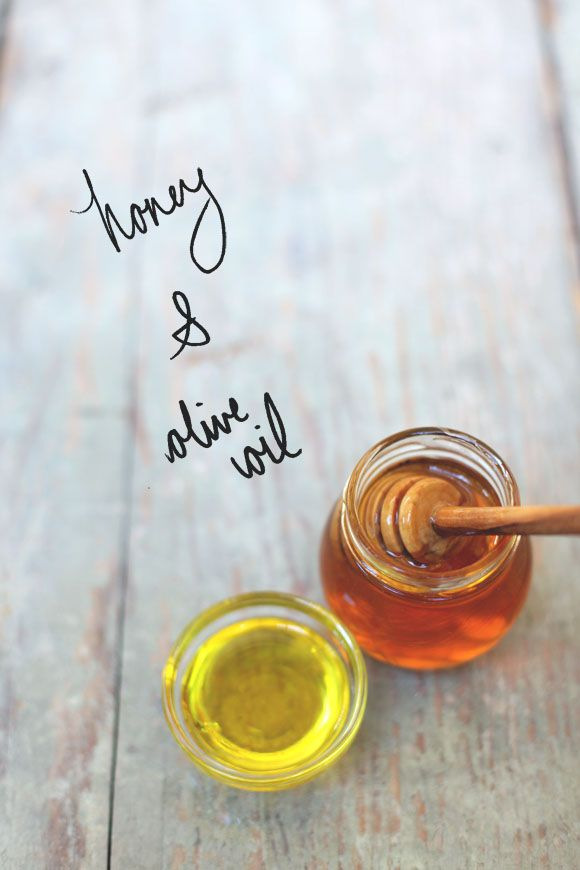 Honey and Olive Oil......great for overnight lip moisturizer.  I must try this....the winter is here, that means constant chapped lips!  lol