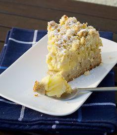 veganer Apfel-Vanillecreme-Kuchen