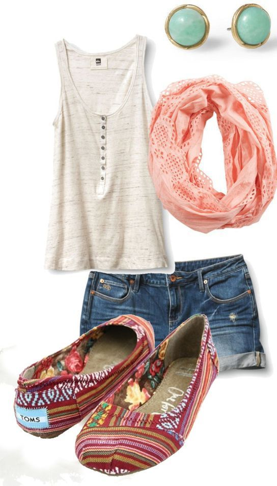 Pin By Gabriella Cugini On Spring/ Summer Fashion | Pinterest | Toms Tom Shoes And Outfit