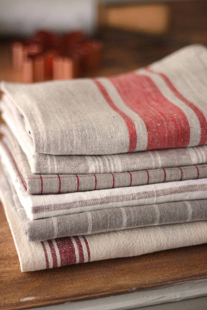 Linens - Red & Natural Stripes - Everyday Occasions