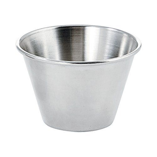 FortheChefs 4 Oz Stainless Steel Condiment and Sauce Cups 12 Pieces >>> Read more reviews of the product by visiting the link on the image.