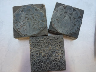 Old printing blocks with Matyo design