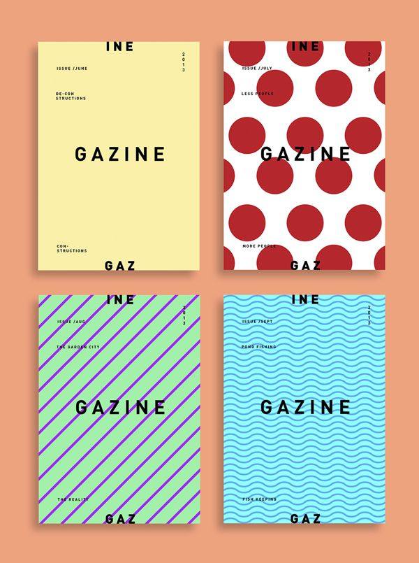 Gazine Publication 2013 by Steve Lim Seng Hee.  This reminds me that variation isn't a bad thing.  I like that the designer can use such varied patterns for this cover with the simple, consistent layout of the type.  Also, it's nice that the colors of the background change but the font remains black.