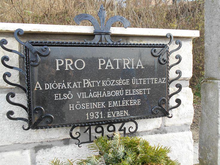 I. világháborúban elesett pátyi katonák emlékhelye (Páty) http://www.turabazis.hu/latnivalok_ismerteto_3876 #latnivalo #paty #turabazis #hungary #magyarorszag #travel #tura #turista #kirandulas