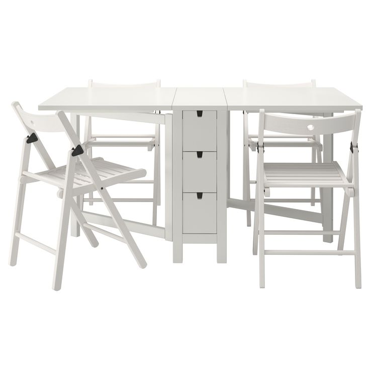 Norden terje table and 4 chairs ikea mathias house for Table ikea blanche