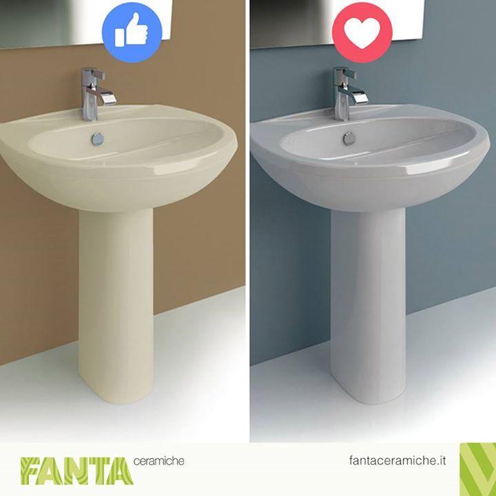 Bianco oppure champagne?  Votate il vostro #lavabo preferito... :D  http://ift.tt/2f9ou9g #Fantaceramiche #Arredamento #Bagno