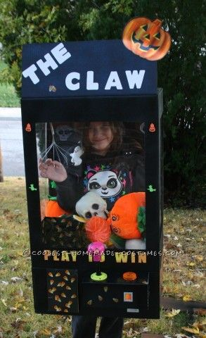 My 8 year old daughter decided that to be a claw machine for Halloween this…