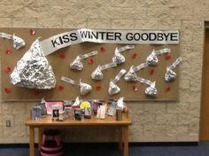Midway High School, Waco, TX - Winter library bulletin board