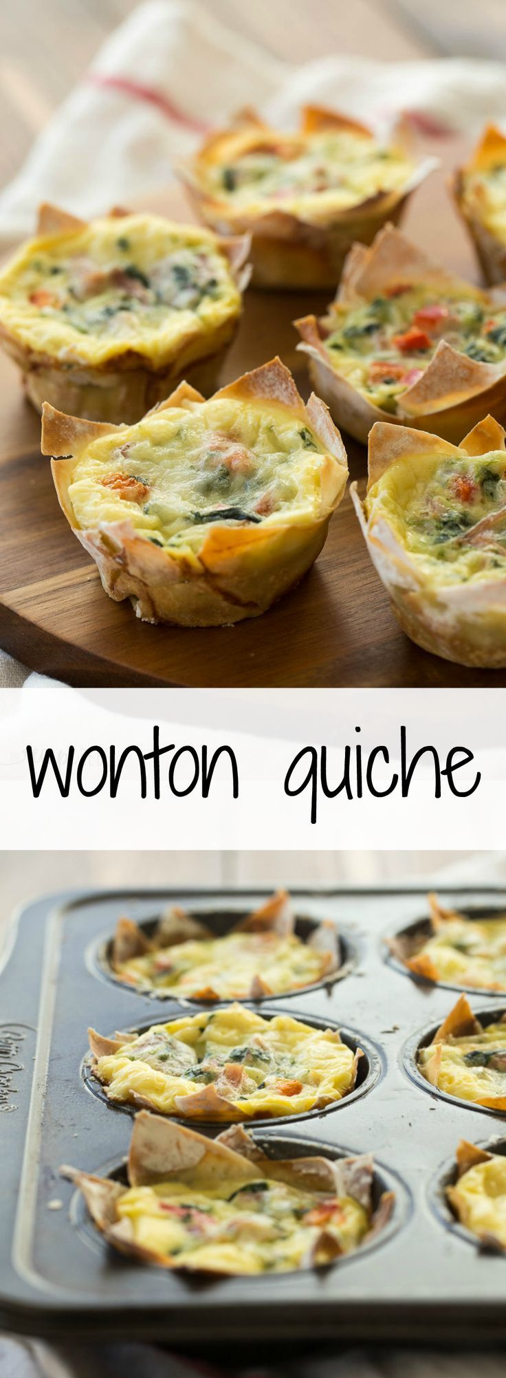 an easy breakfast or lunch recipe that's good for you! Less than 100 calories per quiche