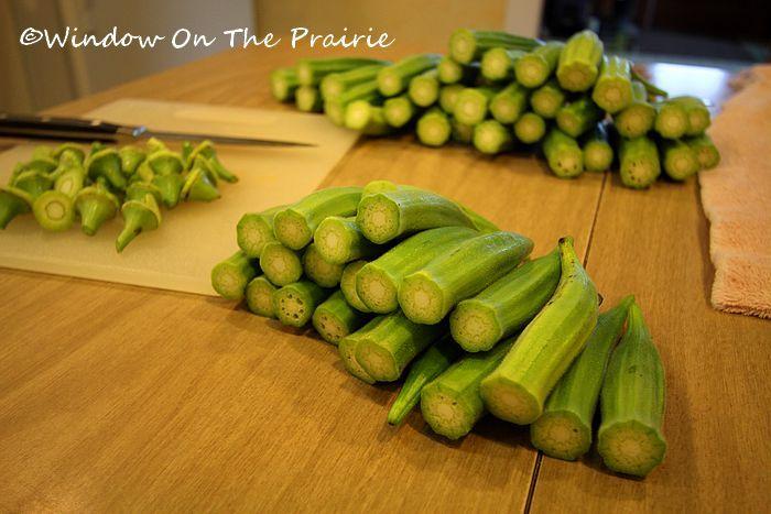 Freezing fresh okra directions.