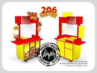 Jasa Desain Logo Kuliner |  Desain Gerobak | Jasa Desain Gerobak Waralaba: Desain Gerobak 206 Sosbak & Friends