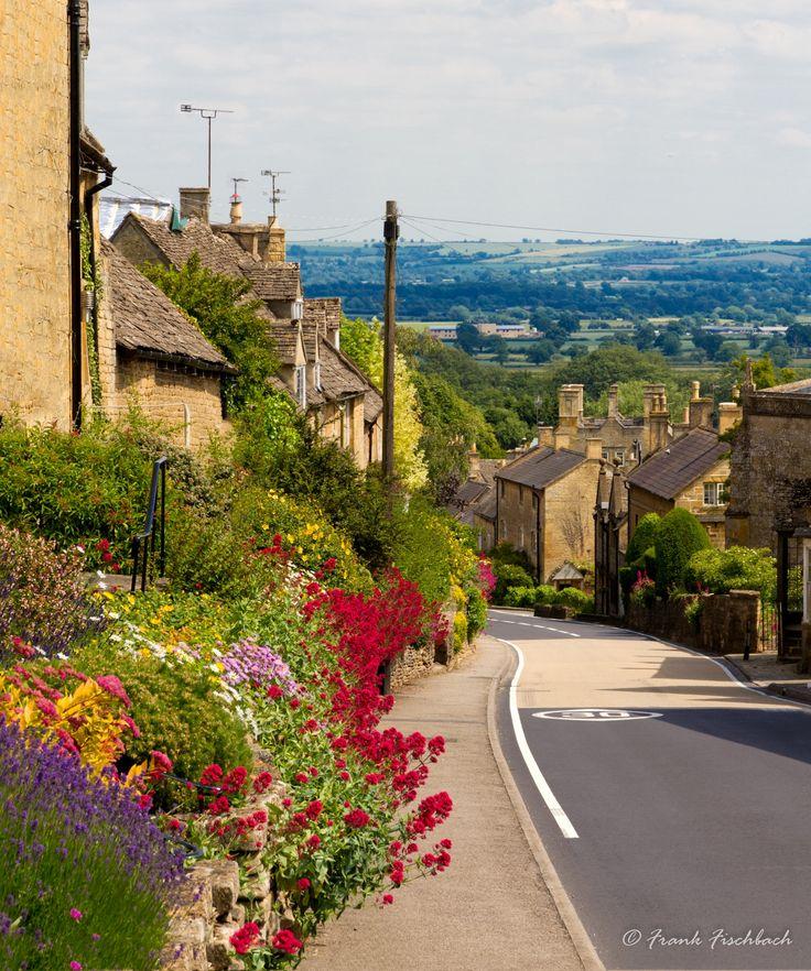 ღღ Cotswolds village Bourton-on-the-Hill with flowers, UK by Frank Fischbach