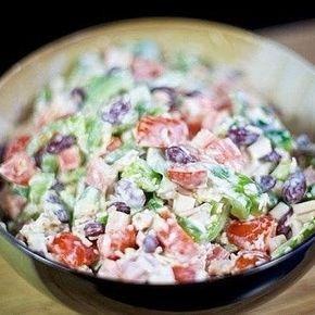 Cалат с крабовыми палочками и фасолью | Самые вкусные кулинарные рецепты
