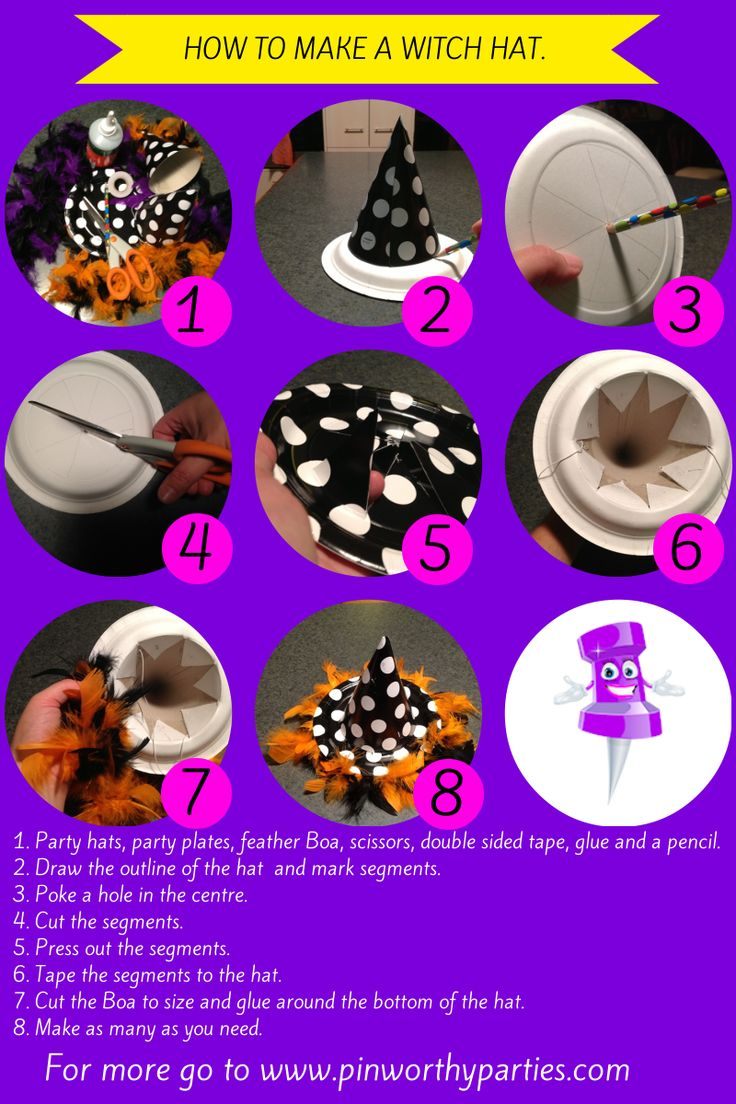 How to make a witch hat from a party hat! I had so much fun making these, I hope you do too. DIY Mum