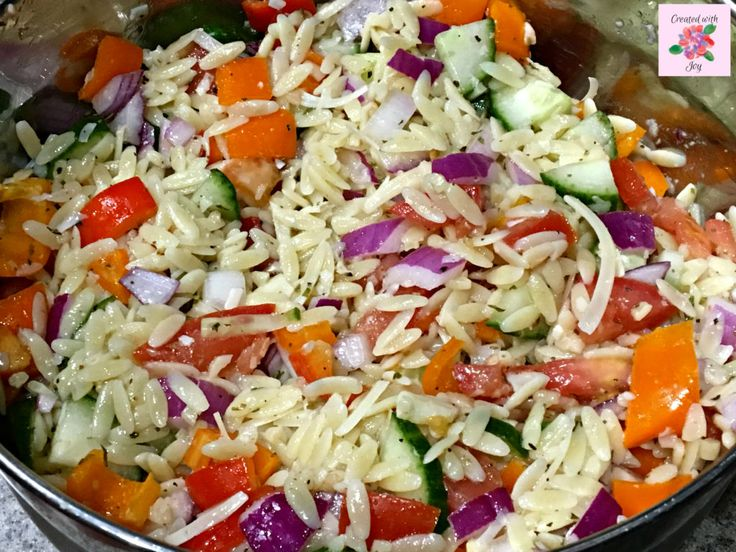 Mediterranean Orzo Salad. Perk up your summer with this refreshing take on pasta salad.