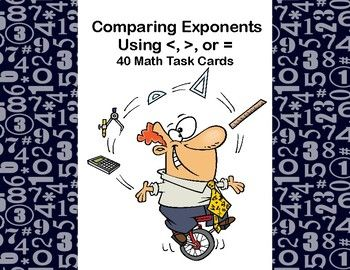 This product gives your class practice in comparing and evaluating the value of numerical expressions based on the exponents. The students are asked to show the answer using the symbols for greater than, less than, or equal to. The worksheet and answer