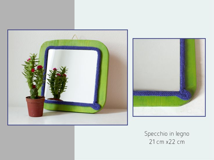 little mirror with crochet wool