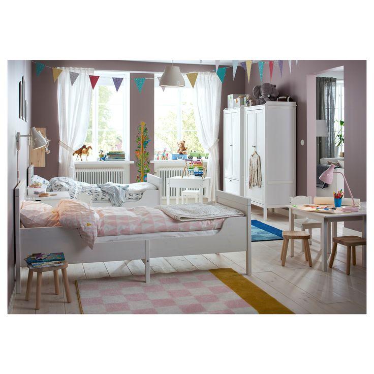 IKEA - SUNDVIK, Utdragbar sängstomme med ribbotten, , Utdragbar säng som kan förlängas i takt med att barnet växer.