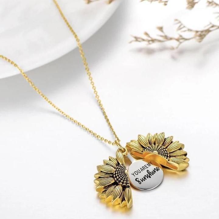 Girls daughter You are my sunshine necklace choose colour n gift box
