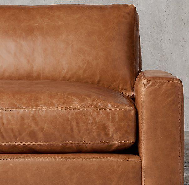 Maxwell Leather Sofa, LEATHER: ITALIAN BROMPTON, COLOR: CHESTNUT
