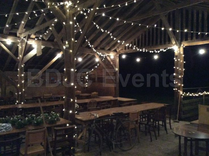 Barn Wedding and Events Fairly Lights Hire in Buckinghamshire, Hertfordshire, Bedfordshire  #bdjcevents #eventlighting #partylighting #venuedressing #ledtablecentres #paperlanterncanopy