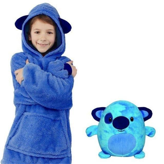 Huggle Pets Hoodie Dinosaur Hooded Sweatshirt Warm Winter Hooded Coats Bathrobe Fleece Pullover For Children For Christmas Gift Hoodies Kids Coats Kids Boutique