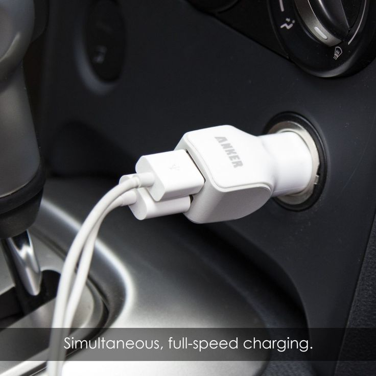 When you need the juice...fast. Anker Dual-Port USB Car Charger - $12