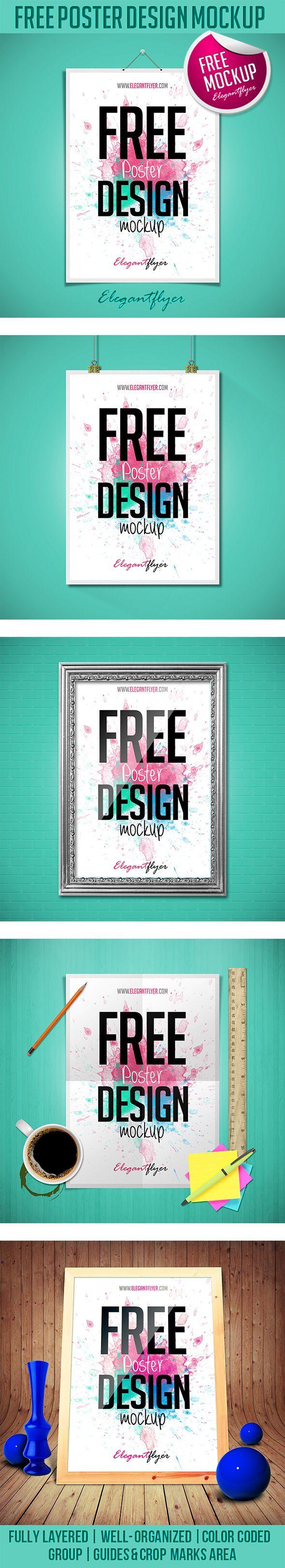 Poster design for free - Free Poster Design Mockup Https Www Elegantflyer Com Free