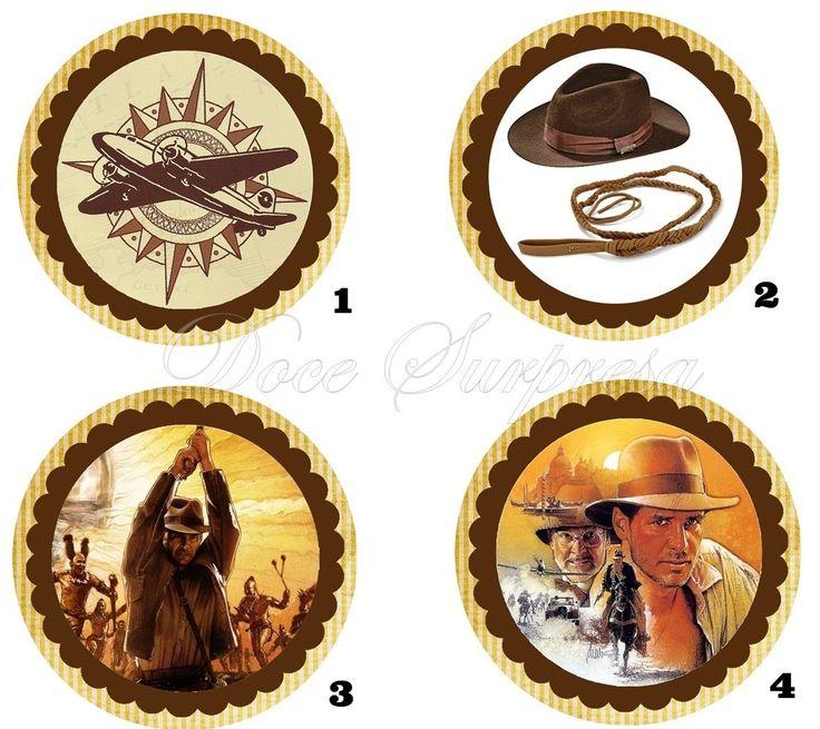 Topper para docinho Indiana Jones | Doce Surpresa Presentes | Elo7