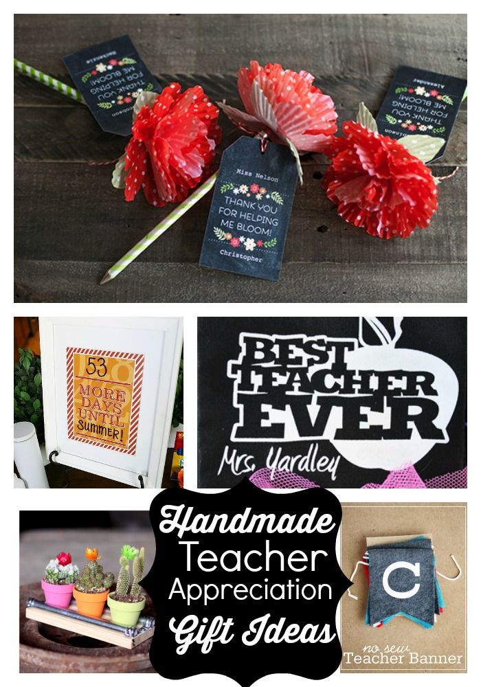 Handmade Teacher Gift Ideas www.skiptomylou.org #teacherappreciationgifts #handmadeteachergifts #DIY