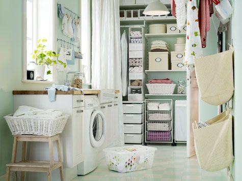 Välplanerad tvättstuga gör jobbet roligare | Tvättstuga | Bad |