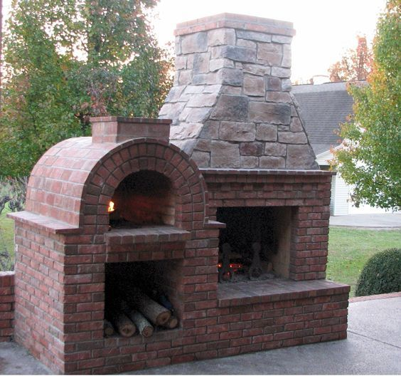This Southern lady graces the rolling blue hills in Kentucky. One of our most viewed Outdoor Fireplace and Wood-Fired Outdoor Pizza Ovens on our Gallery!: