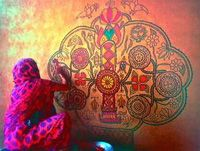 Как сделать роспись стен своими руками.   Художественная мастерская Юлии Быковской