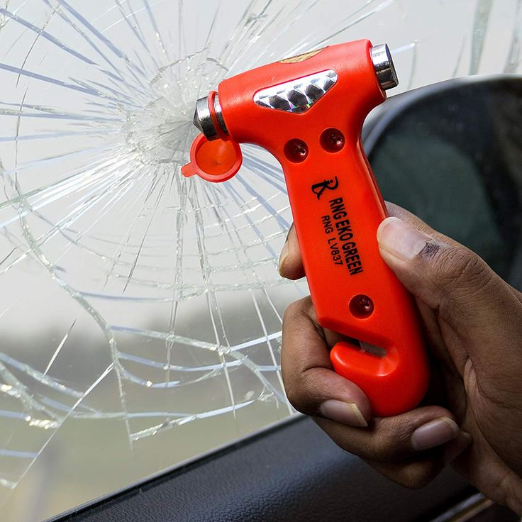Emergency accessories glass breaking hammer with images