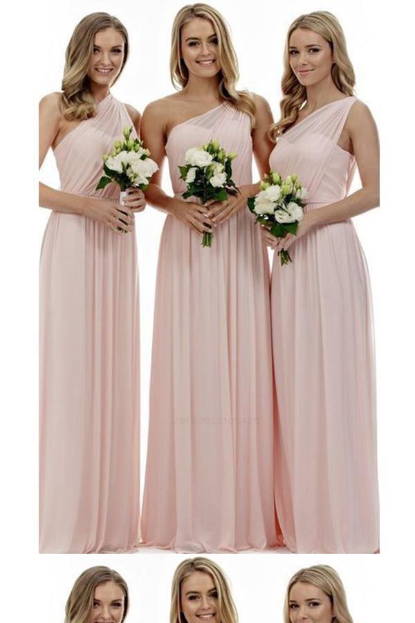 Bridesmaid Dress Plus Size Bridesmaid Dress For Cheap Pink Bridesm Blush Pink Bridesmaid Dresses Bridesmaid Dresses Long Chiffon Pink Bridesmaid Dresses Long